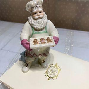 Santa with Gingerbread Tray--Lenox New in box